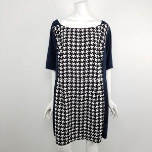 eShakti Houndstooth Career Dress Size 28W